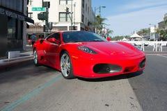 Ferrari F430 på skärm Fotografering för Bildbyråer