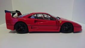 Ferrari F40 röd springa bil royaltyfria bilder