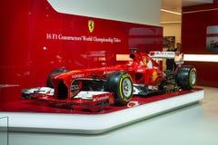 Ferrari F1 racing car. Frankfurt international motor show (IAA) 2013. Ferrari F1 racing car Royalty Free Stock Photography