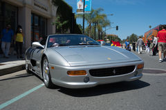 Ferrari F355 Spider car on display Royalty Free Stock Photos