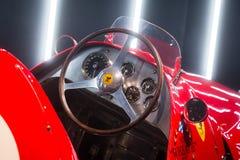 Ferrari 500 F2 steering wheel and dashboard stock photos