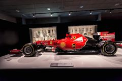 Ferrari F14T of F1 with which competed Fernando Alonso Royalty Free Stock Images