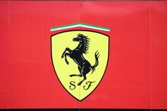 Ferrari f1 motor home Royalty Free Stock Image