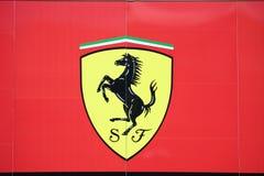 Ferrari f1 motor home Royalty Free Stock Image