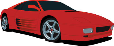 Ferrari F355. A Vector .eps illustration of a Ferrari F355 sports car. Saved in layers for easy editing. See my portfolio for more automotive images royalty free illustration