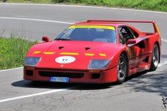 Ferrari F40 - Vernasca Zilveren Vlag 2011 Royalty-vrije Stock Afbeelding