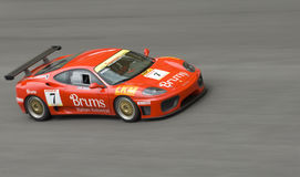 Ferrari F430 panning shots top view. Royalty Free Stock Images