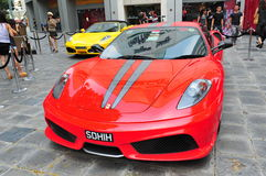 Ferrari F430 Scuderia on display Stock Images