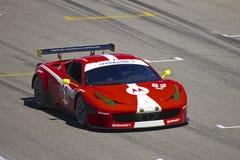 Ferrari F458 em raças grandes do AM Rolex fotos de stock