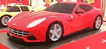 Ferrari fez de blocos de Lego Foto de Stock