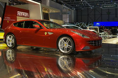 ferrari ff geneva выставка 2011 мотора Стоковое Изображение RF