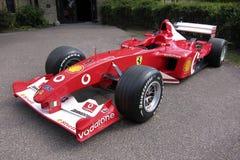 Ferrari-Formel 1 auf Anzeige Lizenzfreie Stockfotografie