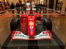 Ferrari formel en på skärm Arkivbilder