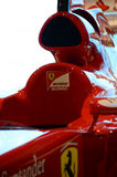Ferrari Formula one. Close view to the cockpit of the Ferrari formula one race car piloted by Fernando Alonso Royalty Free Stock Photo