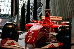 Ferrari-formule 1 auto van ferrariwereld stock afbeeldingen