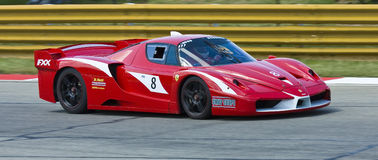 Ferrari FXX. Photo taken at the Kyalami racetrack in the A1 Grand Prix race in Johannesburg, South Africa on 21-22 February 2009 royalty free stock image