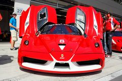 Ferrari FXX en hueco Foto de archivo