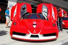 Ferrari FXX in kuil Stock Foto