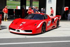 Ferrari FXX in pit Royalty Free Stock Photos