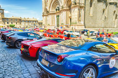 Ferrari Gathering Stock Photos