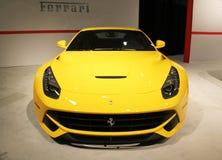 Ferrari giallo anteriore 2015 Fotografia Stock