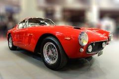 Ferrari 250 GT Berlinetta 1962. Red Ferrari at Retromobile carshow Paris 2017 Stock Image