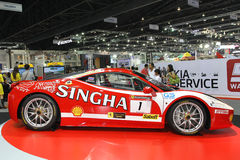 Ferrari 458 GT3 display in Thailand International Motor Expo 2013 Royalty Free Stock Photography