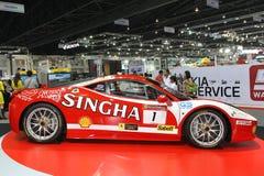 Ferrari 458 GT3 display in Thailand International Motor Expo 2013 Royalty Free Stock Photography
