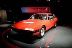 Ferrari 365 GT4 2+2 em Museo Nazionale dell'Automobile Imagens de Stock Royalty Free