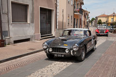 Ferrari 250 GT Europa 1955 in Mille Miglia 2017 Royalty Free Stock Photo