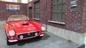 Ferrari 250 GT SWB berlinetta model car diorama Royalty Free Stock Photo