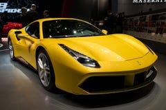 Ferrari 488 GTB sportów samochód Zdjęcia Stock