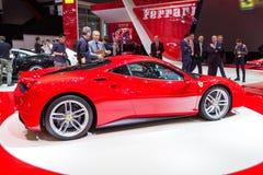Ferrari 488 GTB-sportwagen Stock Foto