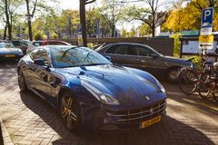 Ferrari GTC4Lusso on the street of Amsterdam Royalty Free Stock Photography