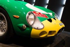 Ferrari 250 GTO green and yellow stock photography