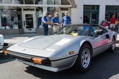 Ferrari 380 GTS på skärm Arkivbild
