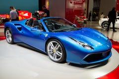 2016 Ferrari 488 GTS-Spin Royalty-vrije Stock Afbeeldingen