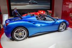 Ferrari 488 GTS spindelsportbil Arkivfoton