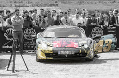 Ferrari 458 - Gumball 3000 - 2016 Edition - Dublin to Bucharest Royalty Free Stock Photo