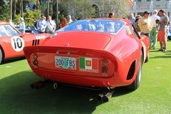 Ferrari-het achtergedeelte van de gtoraceauto Stock Afbeeldingen