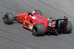 Ferrari historic F1 on the track Stock Photography