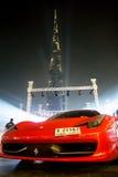 Ferrari i Dubai Arkivfoto
