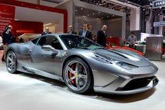 Ferrari im Genf 2014 Motorshow Stockfotografie