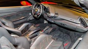 Ferrari 488 inre Arkivbild