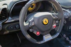 Ferrari instrumentbräda på skärm Royaltyfri Fotografi