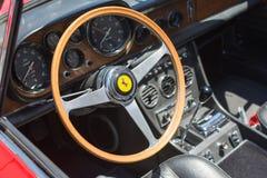 Ferrari interior car on display Royalty Free Stock Photo