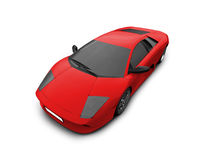 Ferrari isolated red front view Stock Images
