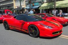 Ferrari 458 Italia bil på skärm Royaltyfria Bilder