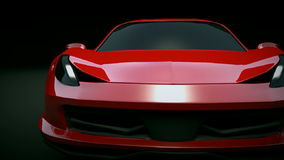 Ferrari 458 Italia 3d animation stock footage