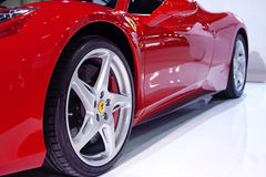 FERRARI 458 ITALIA on display Royalty Free Stock Photos